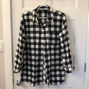 Timing checkered flannel shirt